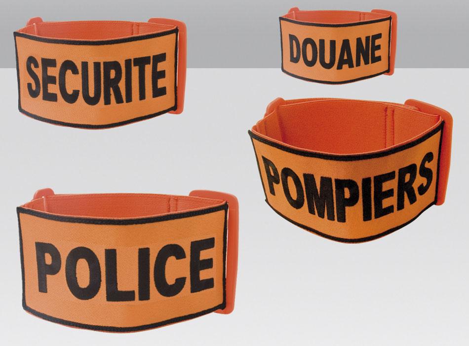 Brassard brode tissu orange securit bras1 for Bureau brassard
